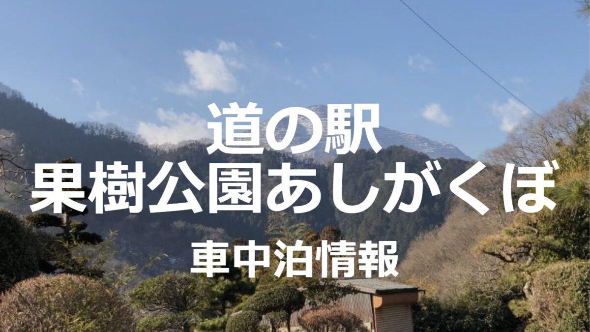 道の駅果樹公園あしがくぼが埼玉で人気なワケ【車中泊】