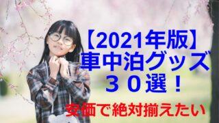 2021年版!安い車中泊グッズ30選をおすすめ順に紹介【初心者必見】