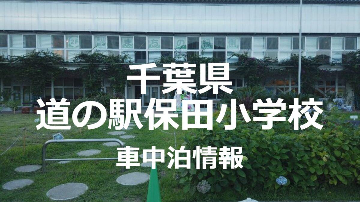 【宿泊も可能】道の駅保田小学校での車中泊は快適か
