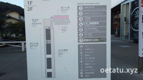 道の駅保田小学校案内図