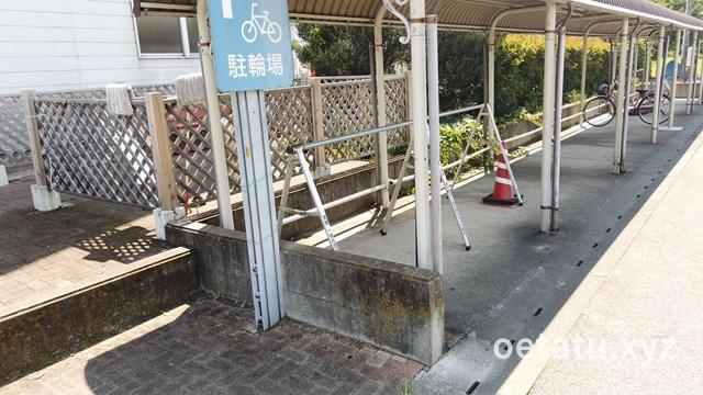 道の駅 アグリパークゆめすぎとサイクルラック