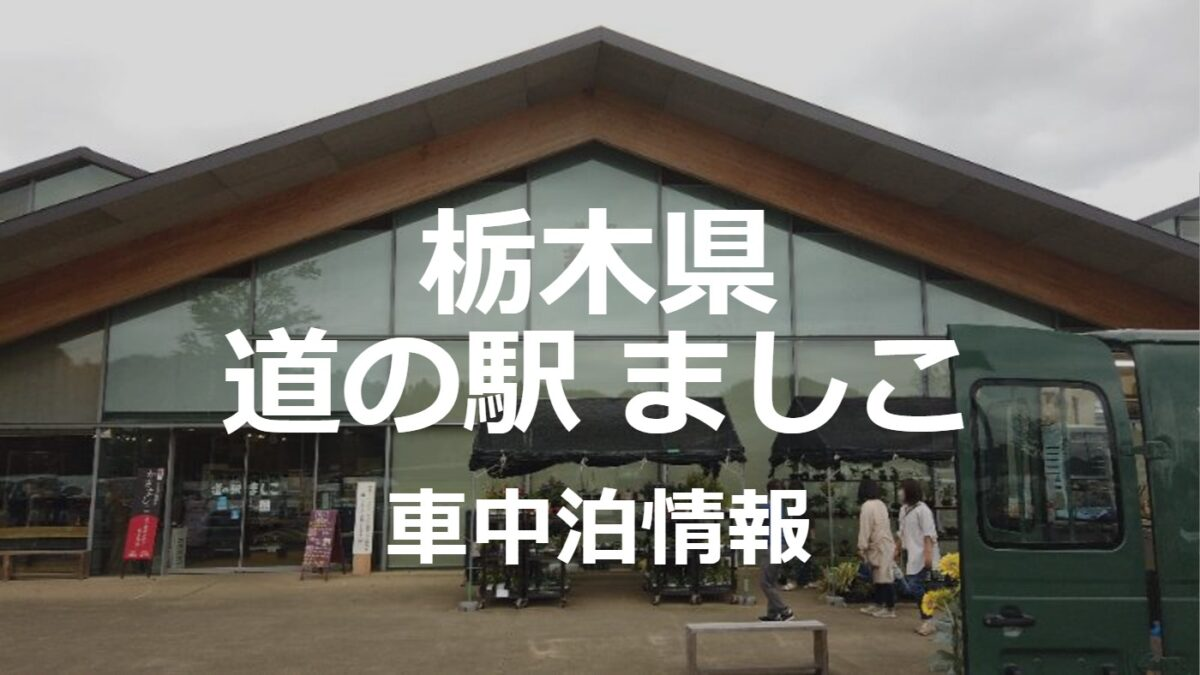 【車中泊】新しくオープンした道の駅ましこは見どころ満載でした